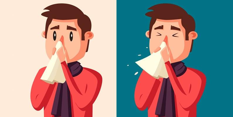 Brug fornuftigt papir, når du er forkølet – det skåner huden på næsen