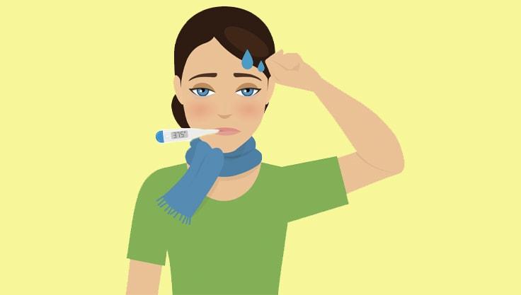 Feberramt? Væskeerstatning kan være en hjælp